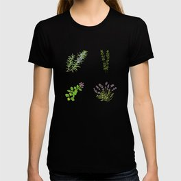Herbs rosemary thyme oregano and lavender T-shirt