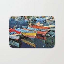Puerto Mogan Boats Bath Mat