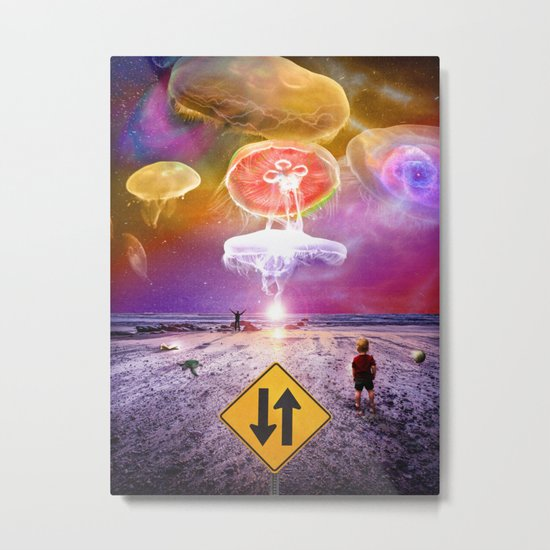 The Day of the Jellies Metal Print