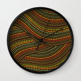 Dot Art Aboriginal Art #1 Wall Clock