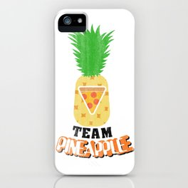 Team Pineapple Pizza iPhone Case