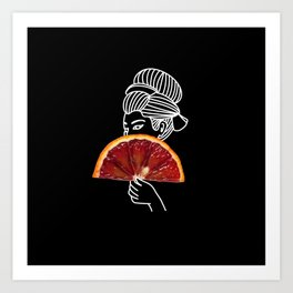 Blood Orange Geisha Art Print