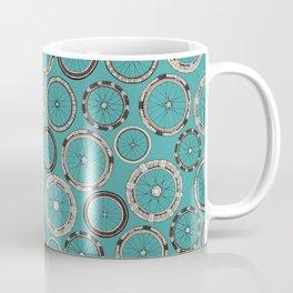 bike wheels turquoise Coffee Mug