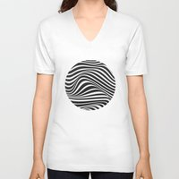 wave V-neck T-shirts featuring Wave by Tracie Andrews