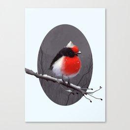 Bird in the snow Canvas Print