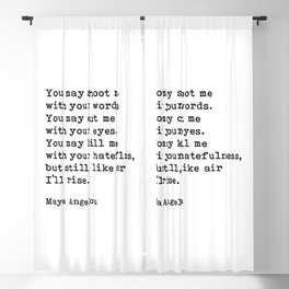 Still Like Air I'll Rise, Maya Angelou Quote Blackout Curtain