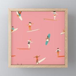 Surf sistas Framed Mini Art Print