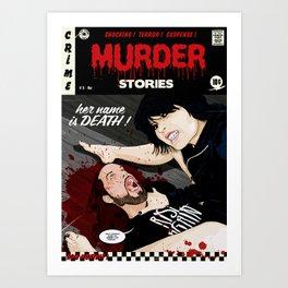 MURDER STORIES Art Print
