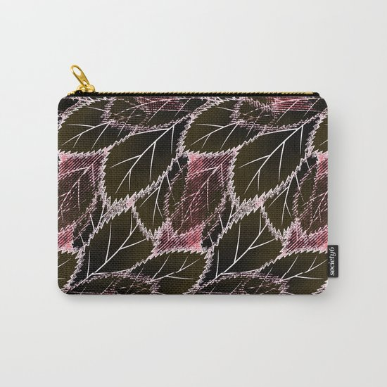 Bright leaves on a black background. Carry-All Pouch