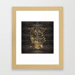 Vegvisir - Viking  Navigation Compass Framed Art Print