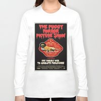 rocky horror Long Sleeve T-shirts featuring Puggy Horror by Dark Lord Pug