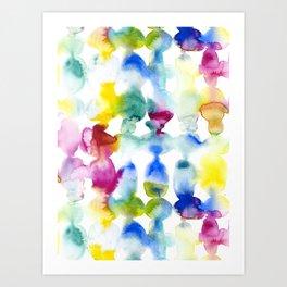 Dye Ovals Vibrant Art Print