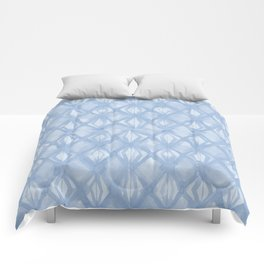 Braided Diamond Sky Blue on Lunar Gray Comforters