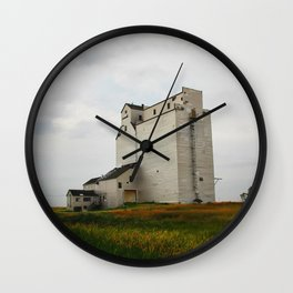 Grain Elevator on the Canadian Prairie Wall Clock