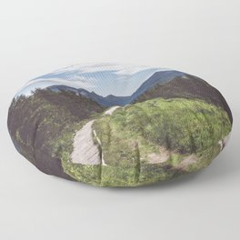 Greetings from the trail - Landscape and Nature Photography Floor Pillow