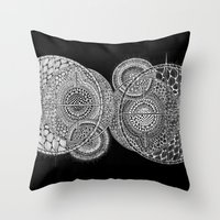 universe Throw Pillows featuring Universe by Luna Portnoi