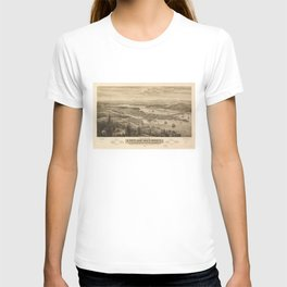 Birdy's Eye View of Olympia, East Olympia and Tumwater, Puget Sound, Washington State (1879) T-shirt