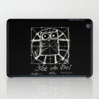 da vinci iPad Cases featuring Kot da Vinci (black) by Katja Main
