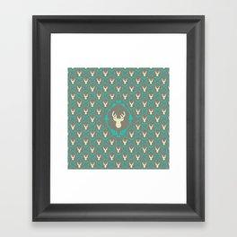Oh Deer (white) Framed Art Print