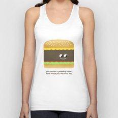 Cheesy Burger Unisex Tank Top