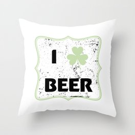 St Patty Irish Funny St Patrick's Day Beer Funny Throw Pillow