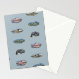 Highland Landmarks in blue Stationery Cards
