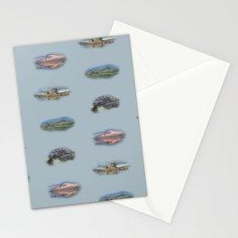 Highland Landmarks in blue Stationery Cards