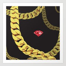 Luxury Red Art Print
