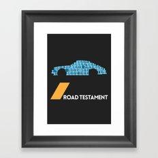 Drive - Road Testament Framed Art Print