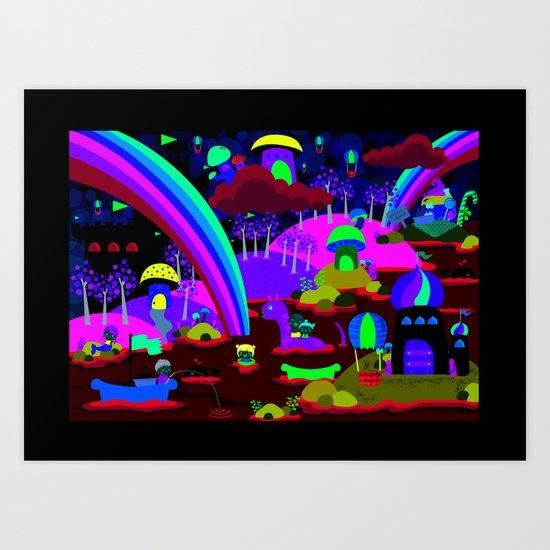 rainbow land Art Print