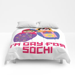 I'm Gay for Sochi—Female Nesting Dolls Comforters