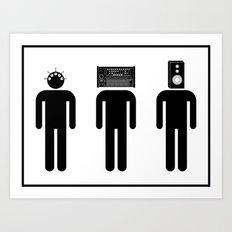 Music Heads Art Print