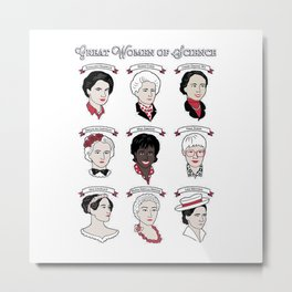 Great Women of Science {Set} Metal Print