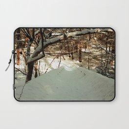 Snowshoeing through Vaughan's Woods Laptop Sleeve