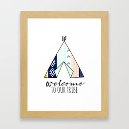 Welcome To Our Tribal - Tribal Pattern Teepee Framed Art Print