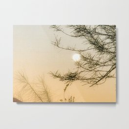 Full Moon Set Sunrise Metal Print