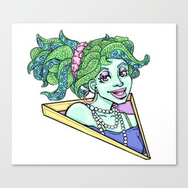 80s Octo Girl Canvas Print