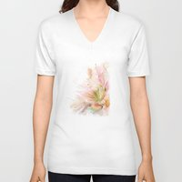 postcard V-neck T-shirts featuring postcard by tatiana-teni