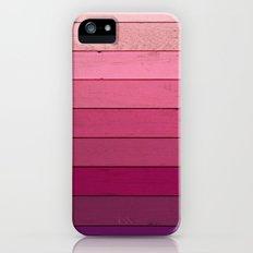Purple Wood iPhone SE Slim Case