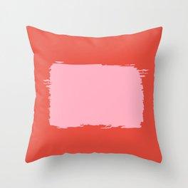 Crimson Swatch Throw Pillow