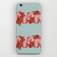 vintage floral iPhone & iPod Skins featuring vintage floral by cardboardcities