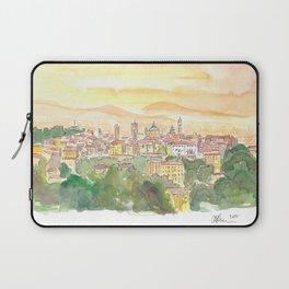 Bergamo Italy Citta Alta at Dusk Laptop Sleeve