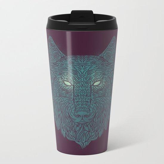 Wolf of Winter Metal Travel Mug