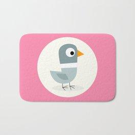 Mr Bird Pink Bath Mat