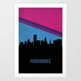 Providence Skyline Art Print