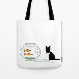 Gone Fishin' (The Naughty Kitten) Tote Bag