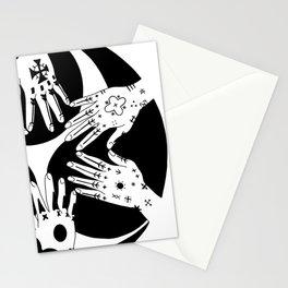 Ryukyu Hajichi Historical Womens' Traditional Tattoo from Okinawa Japan with Okinawan Hidari-Gomen Stationery Cards