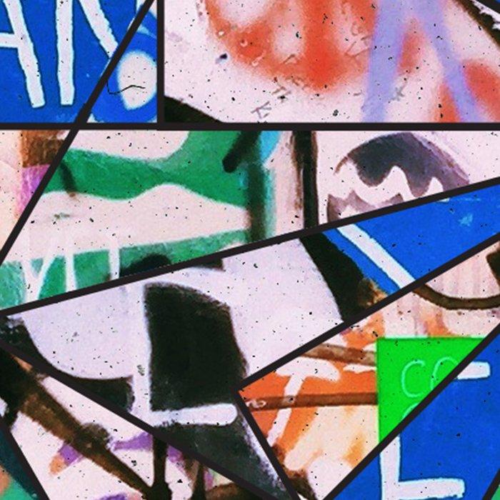Green Graffiti Abstract Mosaic Leggings