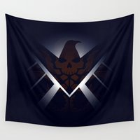 hydra Wall Tapestries featuring Hidden HYDRA – S.H.I.E.L.D. Logo Sans Wording by Andrew Treherne