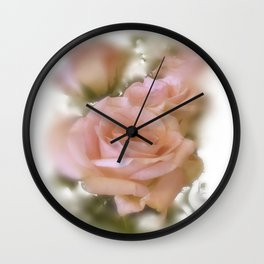 Love The Roses Wall Clock